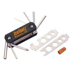 IceToolz multi-tool 93B1, Release-20 20-delig, zwart