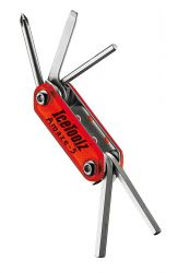 IceToolz multi-tool 95A1, Amaze-5 5 parts, red