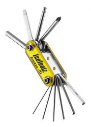 IceToolz multi-tool 95A3, Amaze-10 10 parts, yellow