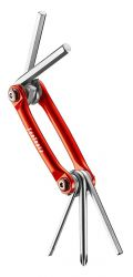 IceToolz multi-tool 96B1, Bar-5 5 parts, red