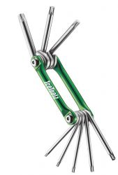 IceToolz multi-tool 96T1, Star-8 8 parts, green