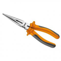 IceToolz needle nose pliers 28L2, comfort-grip, orange