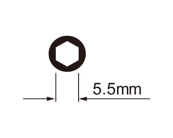 icetoolz nippelsleutel 12c7 6kant met thandvat 55mm oranje