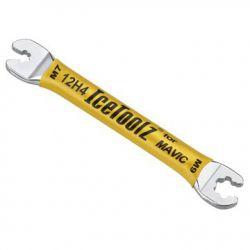 IceToolz nipple wrench 12H4, Mavic, yellow