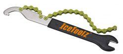 "IceToolz pedaalsleutel 34S2, haak & freewheelafnemer 15mm & 1/2x1/8"", zwart"
