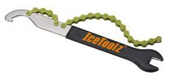 "IceToolz pedal wrench 34S2, hook & freewheel remover 15mm & 1/2x1/8"", black"