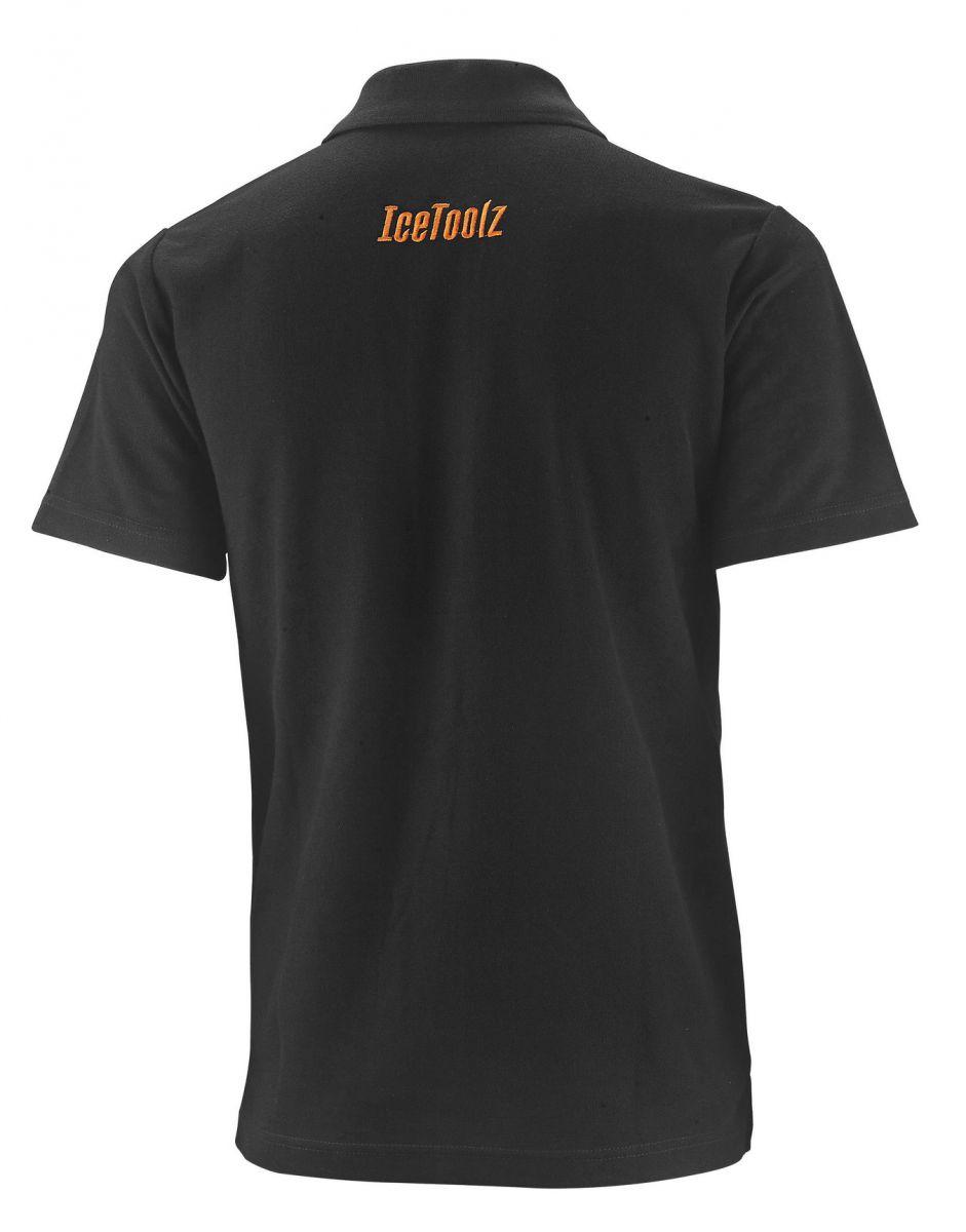 icetoolz polo 17p short sleeve s black