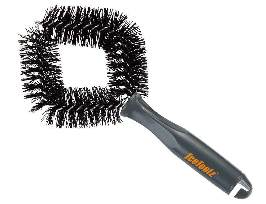icetoolz reinigingsborstel c164 stugge haren set van 2 stuks zwart