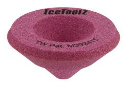 IceToolz sanding block 16B1, for filing pipe ends toll-shaped, pink