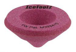 IceToolz schuurblok 16B1, voor afvijlen buiseinden tolvorming, roze