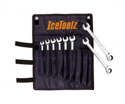 IceToolz steek-/ring-/ratelsleutel 41B8, set 8~15mm, zwart