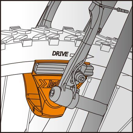 icetoolz straightening tool 55b1 croco for brake shoe orange