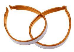 IceToolz trouser clamps 21C2, with 3M® Scotchlite reflection set of 2 pieces, orange