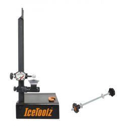 """IceToolzXpert wielrichter E129, met steekas adapter 18""""~29"""", zwart"""