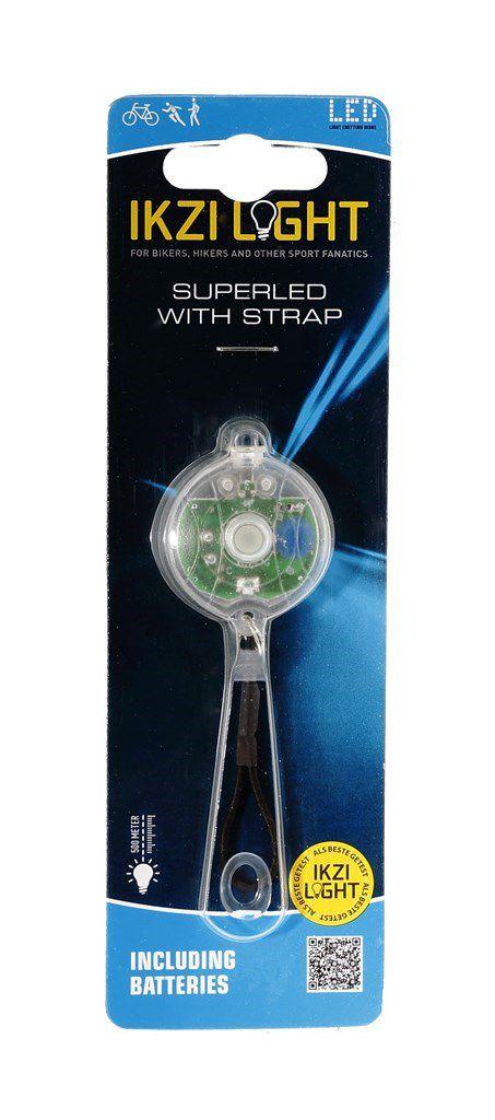 ikzilight koplamp 1xled rond met elastiek