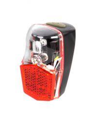 IkziLight achterlicht op spatbord, 1 rode Tech LED bout M4, zwart|rood