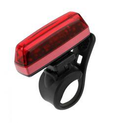 IkziLight achterlicht Straight25 USB oplaadbaar, 1 rode COB LED strip QR, rood