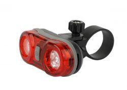 IkziLight achterlicht Twinkle Light, 1 rode LED ½W bracket en clip, zwart