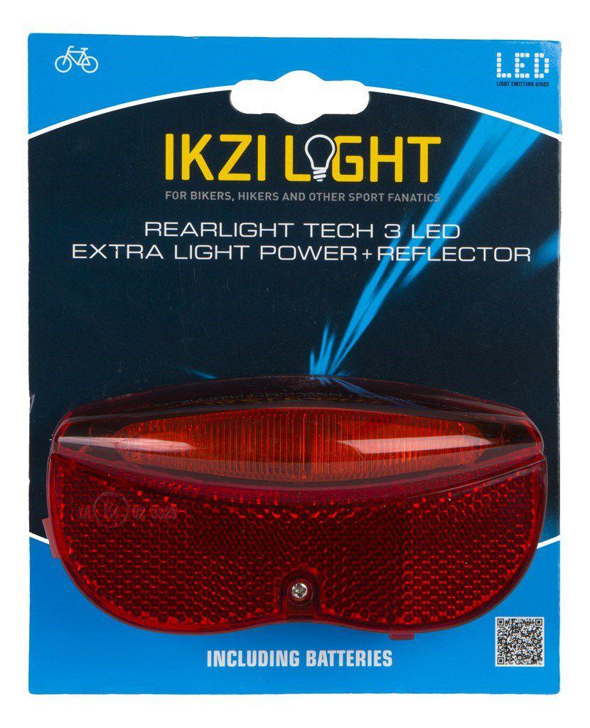 ikzilight achterlichtdrager reflector 3xled 80mm e1keur