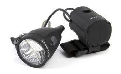 IkziLight headlight battery pack, 1 white Cree LED 3W QR, black