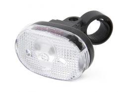IkziLight headlight oval, 3 LED ,bracket en clip, black