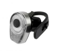 IkziLight headlight Round16 USB rechargeable, 1 white COB LED QR, grey