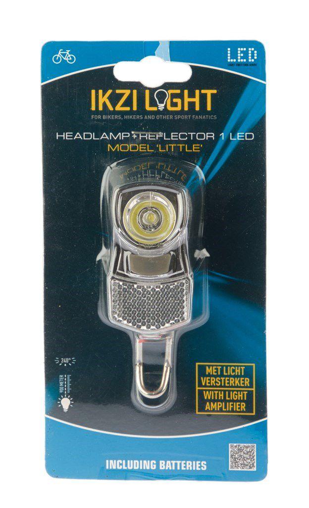 ikzilight koplamp little chroom 1x1w led met bracket