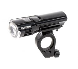 IkziLight koplamp Mr. Brightside, 1 witte Hi-Tech LED 3W bracket, zwart