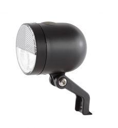 IkziLight koplamp Nero, 1 witte LED 1W zonder bracket, zwart|mat