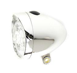 IkziLight koplamp retro 3xled, chroom