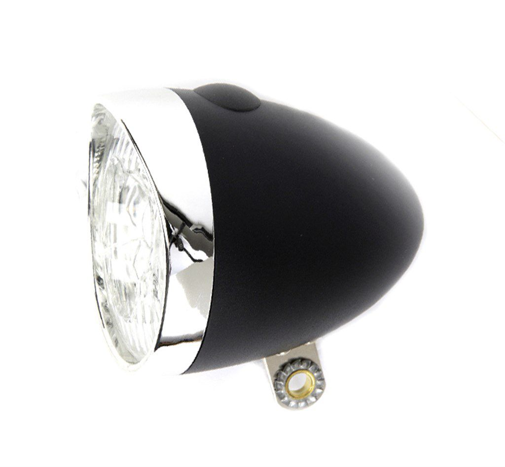 ikzilight koplamp retro 3xled zwart