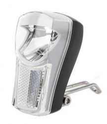IkziLight koplamp The Boss, 1 witte LED 1W bracket, zwart