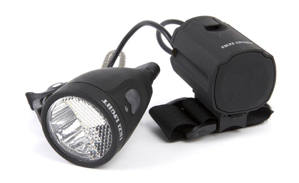 ikzilight koplamp zwart 3wled oplaadbaar