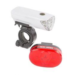 IkziLight lighting set The Sunset, 1 white LED  3 red LED bracket, black