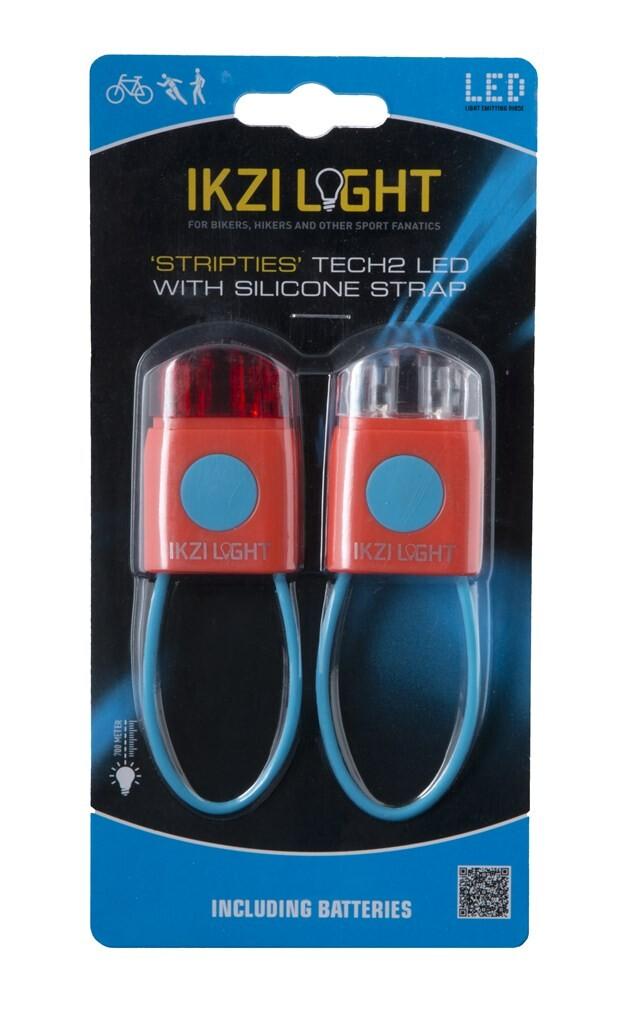 ikzilight mini ledset met siliconen strap rood