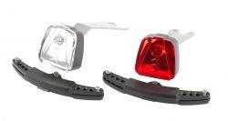 IkziLight verlichtingsset Magnetic LED, 1 witte en 1 rode LED ½W brackets, wit|rood