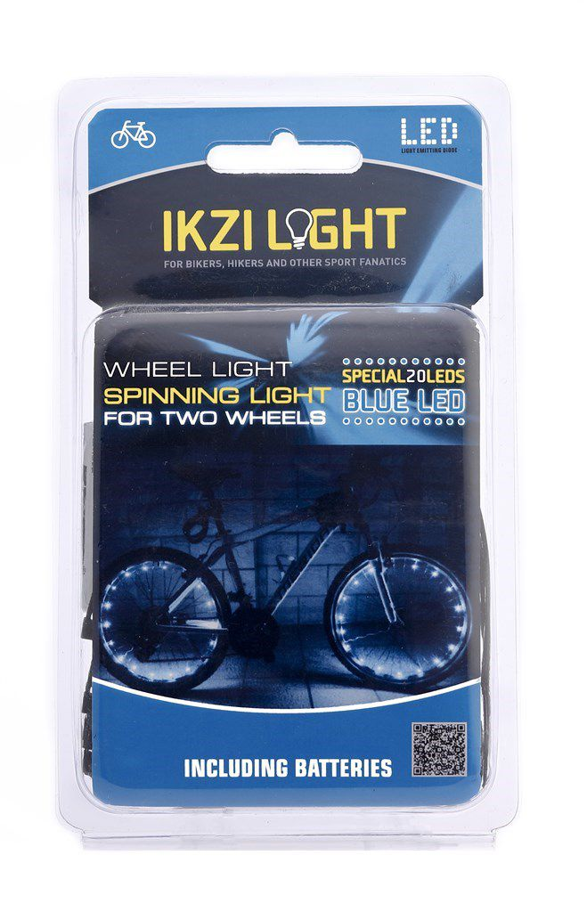 ikzilight wiellicht 20xled blauw22meter voor 2 wielen