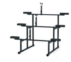 Minoura displaystandaard 971-3, 3-traps, grijs