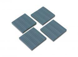Minoura pads set van 4 10x10cm, grijs