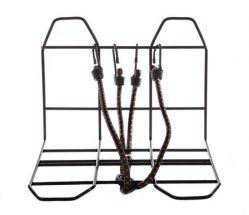 Mirage bagagedrager verbreder, met spin en bevestigingen voor of achter, zwart