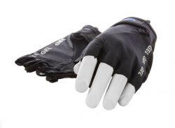 Mirage handschoenen vingerloos, lycra+gel M, zwart