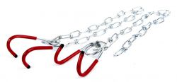 Mirage hanging hooks plasticized hooks, steel chain, silver