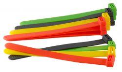 Mirage kabelbinder sjorband, 14cm; 4 kleuren 10mm, sortie