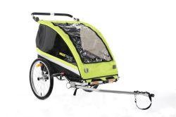 Mirage kids trailer, zero-two, groen/zwart