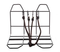 Mirage luggage carrier widener, with spider and fixings front or back, black