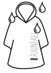 Mirage rain cape disposable, Rainfall, blue
