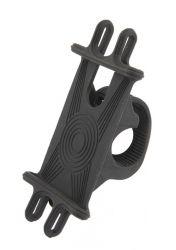 Mirage smartphone holder Zero-Six Spider, all silicone with bracket, black