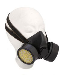Mirage stofmasker halfgelaats-, 2 filters unisex, zwart