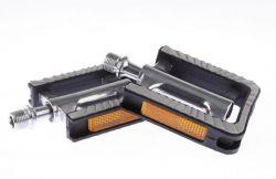 Mirage tourpedaal FP-930, tweedelig PP-Alu 8.5x7.4cm, zwart|grijs