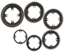 "Miranda chainwheel 3/32"", stitch 104, 4arms, black"